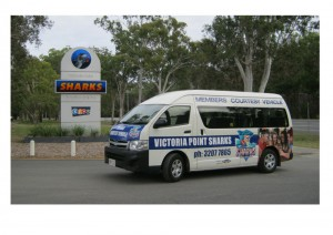 Victoria Point Sharks Sporting Club Courtesy Bus